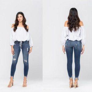 Women's Judy Blue Destroyed Hem Skinny Jeans